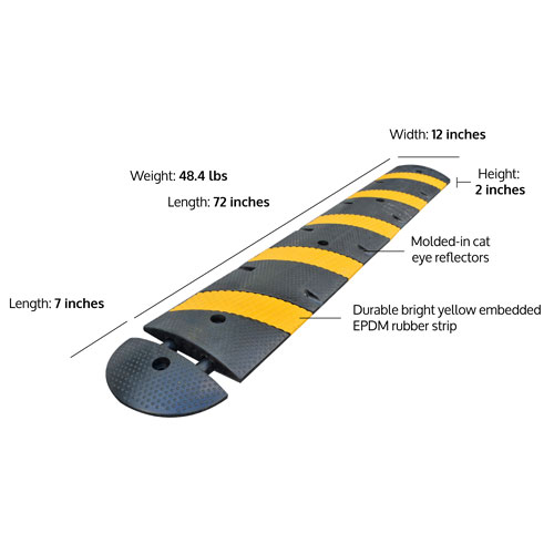 low profile speed bumps
